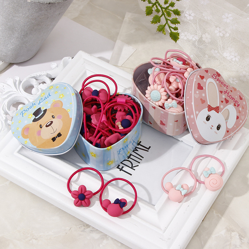 20Pcs/Lot Girls Kawaii Elastic Hair Bands Headwear Scrunchies Rubber Bands Headbands Hair Accessories New Born Baby Hair Band