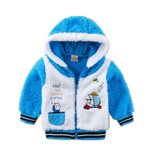 Children Long Sleeve Boys and Girls Jacket Hoodie Coral Fleece Warm Autumn and W