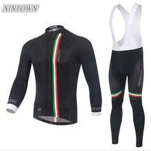 XINTOWN Men Black Long Sleeve Cycling Jersey Bike Autumn/Spring Roupa Ciclismo Cycling Clothing Riding Sportswear