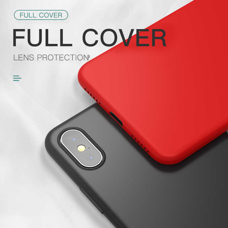 Thin Soft Case For iPhone 7 8 6 6s Plus 5S 4 Original Liquid Silicone Cover Candy Color Coque Capa For iPhone X Xs 11 Pro Max XR