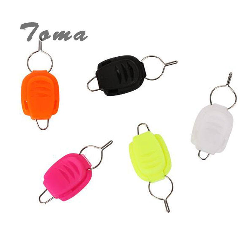 TOMA 4pcs/lot Stop line Tools Impedance clip Fishing supplies 5colors Card line device Used in Baitcasting Reel Fishing Tackle