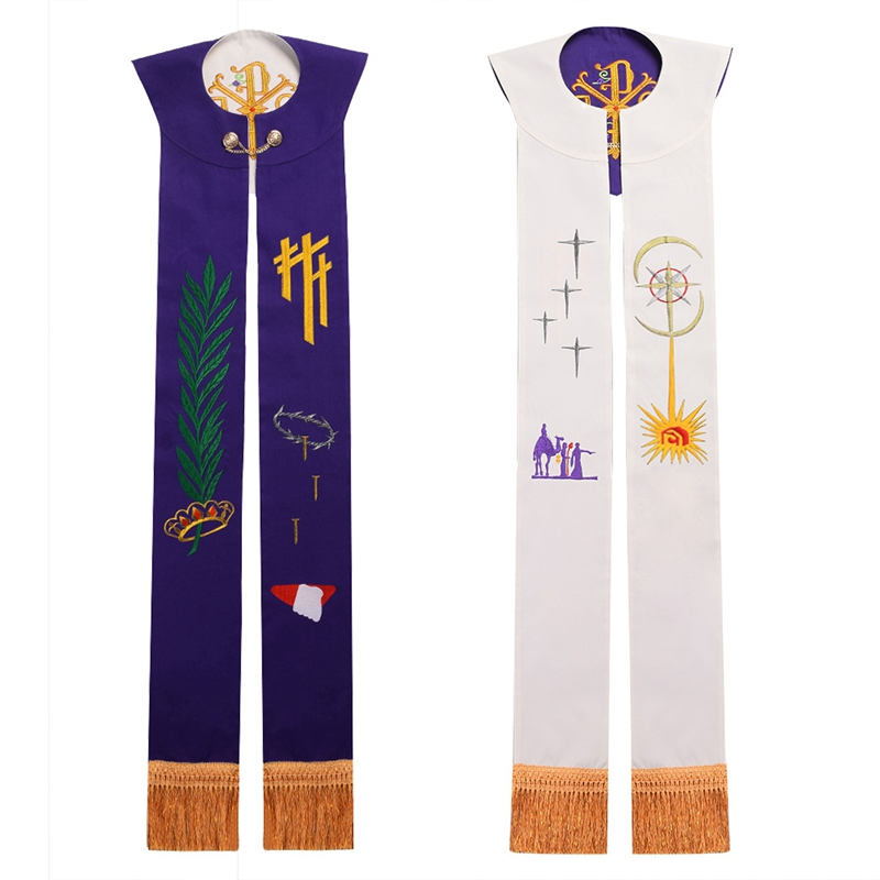 Priest Reversible Embroidery Stole