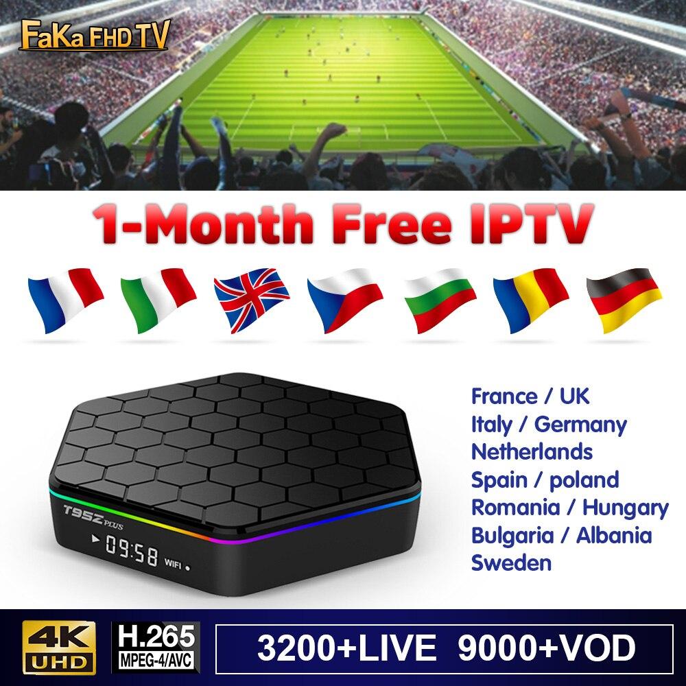 IPTV italie France T95Z Plus 1 mois IP TV turquie Canada IPTV abonnement 4 K Android Box IPTV espagne italien français FULL HD IP TV