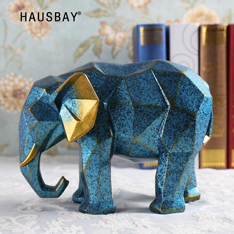 현대 흰색 기하학적 코끼리 거실 행운의 장식 수지 표범 조각 와인 캐비닛 공예 동물 동상 05525-에서피규어 & 미니어처부터 홈 & 가든 의  그룹 1