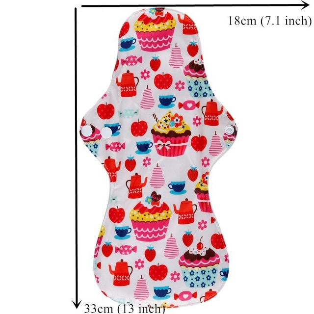 [simfamily] 10PC Heavy Flow Pads Reusable Menstrual Cloth Mama Pads Sanitary Pads Bamboo Charcoal Inner Wholesale Selling