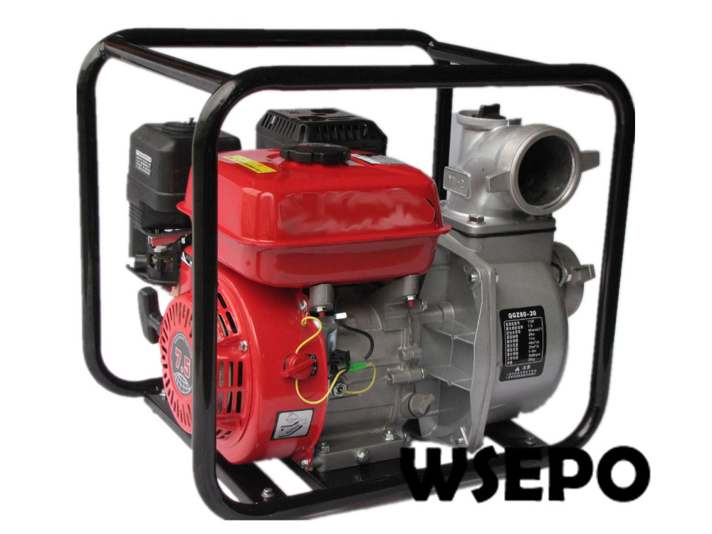Factory Direct Supply! 3 in. Portable Aluminum Self Priming Clear Water Pump Powered by WSE 170F 7hp 212CC Gasline Engine