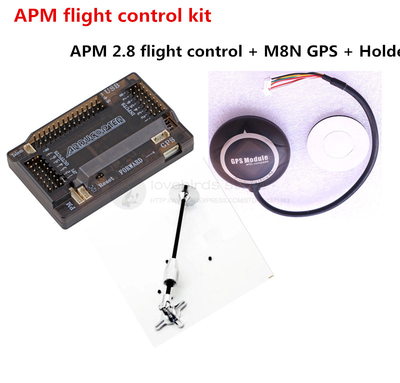 APM 2.8 flight control + NEO-7M / NEO-M8N GPS + holder kit for DIY FPV drone quadcopter / hexacopter f04305 sim900 gprs gsm development board kit quad band module for diy rc quadcopter drone fpv