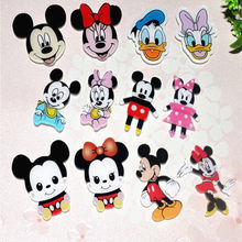 1 pièces Harajuku dessin animé mignon Minnie Mickey acrylique broche vêtements Badge décoratif sac à dos icône broches broches Badge enfants cadeau(China)