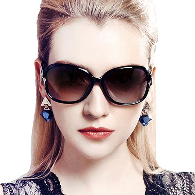 2016 óculos de sol polarizado estrelar elegantes óculos de sol femininos anti-uv grande quadro óculos de sol
