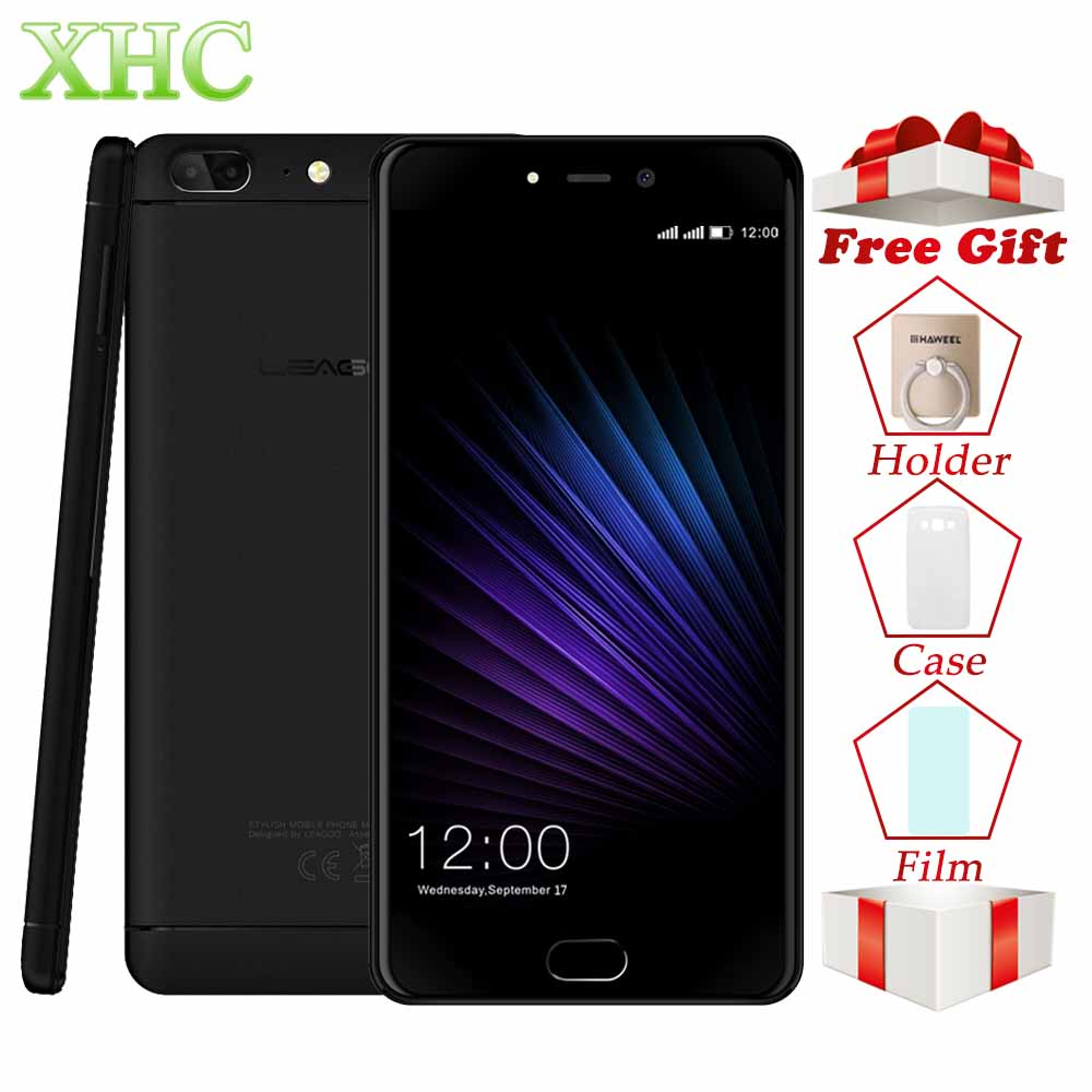 LEAGOO T5 5,5 ''teléfonos móviles Dual SIM RAM 4 GB ROM 64 GB Dual 13.0MP huella digital ID MTK6750T Octa core 4G LTE OTG GPS Smartphones