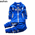 2017spring Autumn Baby Boy Clothing Set Sports Outerwear Coat Tracksuit Clothes T Shirt+pant 2pcs Cottton Children Clothes Sets