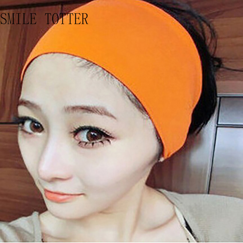 2 PCS Women yoga headband fashion candy color cotton sport wide headband popular absorb sweat hair band headband for girls 2 5cm wide new arrival freeshipping fashion bohemian wigs braid thick wide headband popular fashion hair accessories