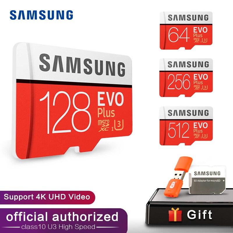 SAMSUNG Memory Card Micro SD 32GB 64GB 128GB 256GB 512GB SDHC SDXC Grade EVO+ Class 10 C10 UHS TF SD Cards Trans Flash Microsd