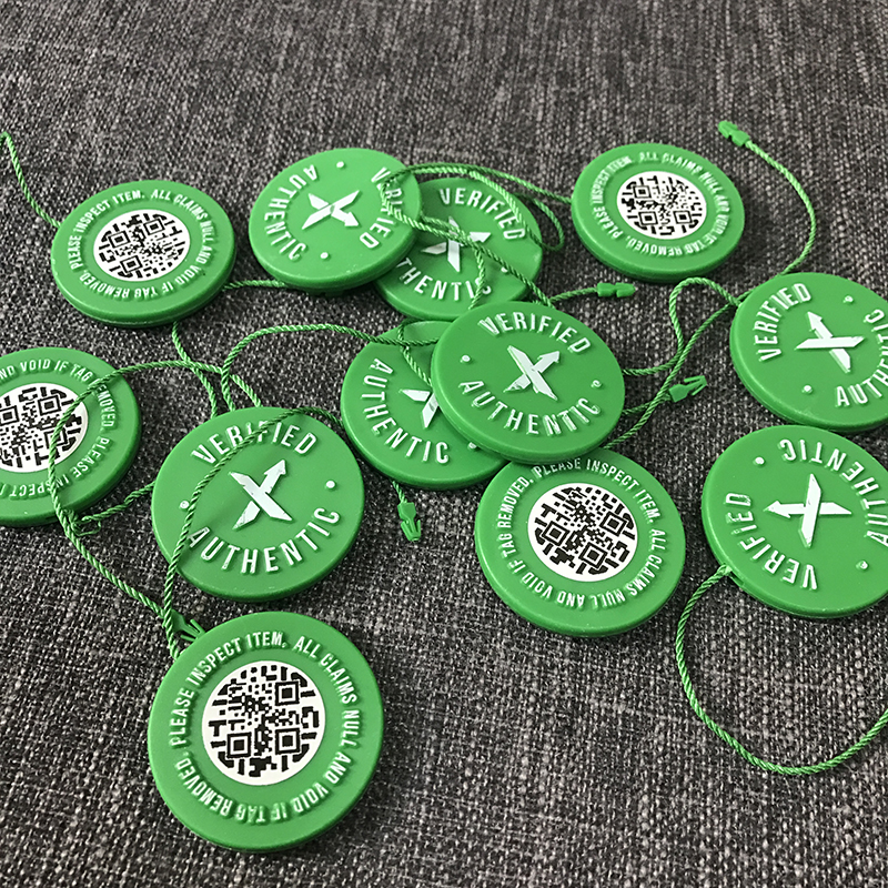 56b0da13c 5 pcs lot Wholesale In Stock X Green Circular Tag Rcode Sticker Flyer Card  Authentic StockX Plastic Buckle for Shoes Accessories-in Clothing    Accessories ...
