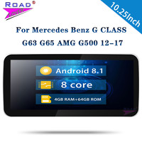10.25'' Android 8.1 Car Autoradio Octa Core Unit For Mercedes Benz G CLASS G63 G65 AMG G350 G500 Stereo 1 Din Android Car Radio