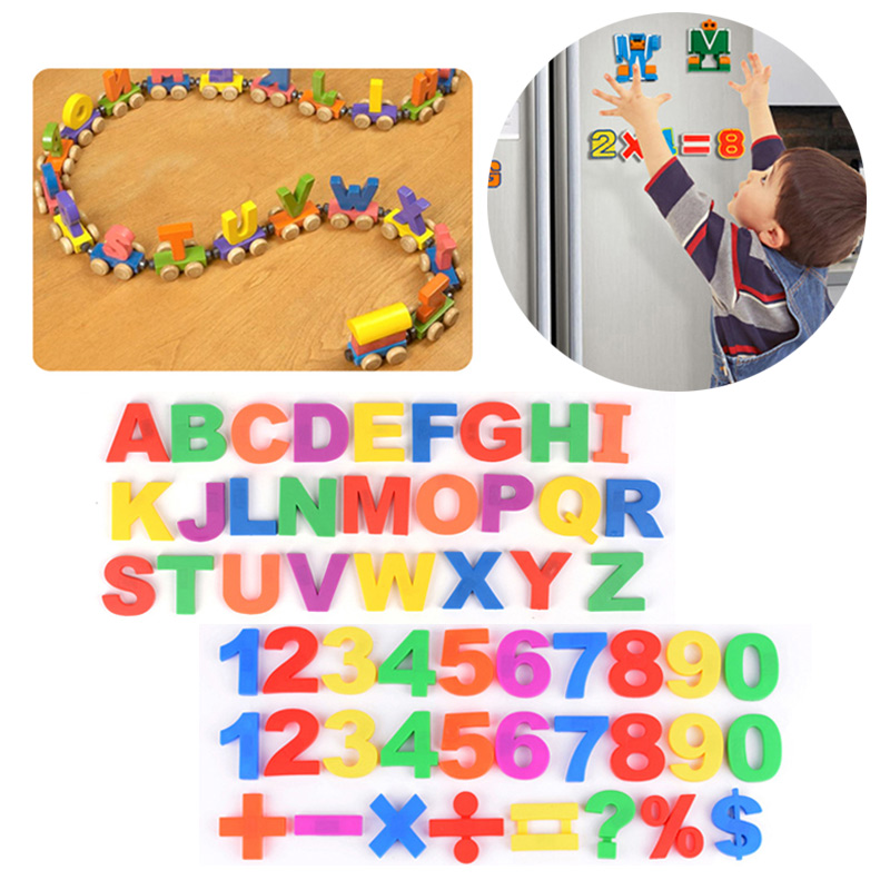 1 Set Cute Colorful Magnetic Fridge Letters / Numbers Teaching Educational Magnets Alphabet 88 YH-17 ...