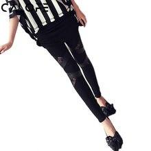 NIBESSER Noir Legings Mode Femmes Sexy Creux Dentelle Couture Leging pour  Femmes 2018 Printemps Nouveau Legging Pantalon d78aa7fe88a