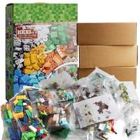 1000 Pieces Building Blocks Sets City DIY Creative Bricks Compatible LegoINGs My World Figures Educational Toys for Children