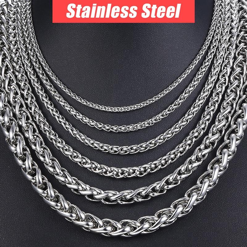 Personalizate colier din oțel inoxidabil 3-10 mm din oțel - Bijuterii de moda - Fotografie 3