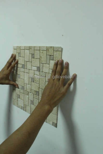 Dhl Free Shipping Travertine L And Stick Instant Self Adhesive Mosaic Tile