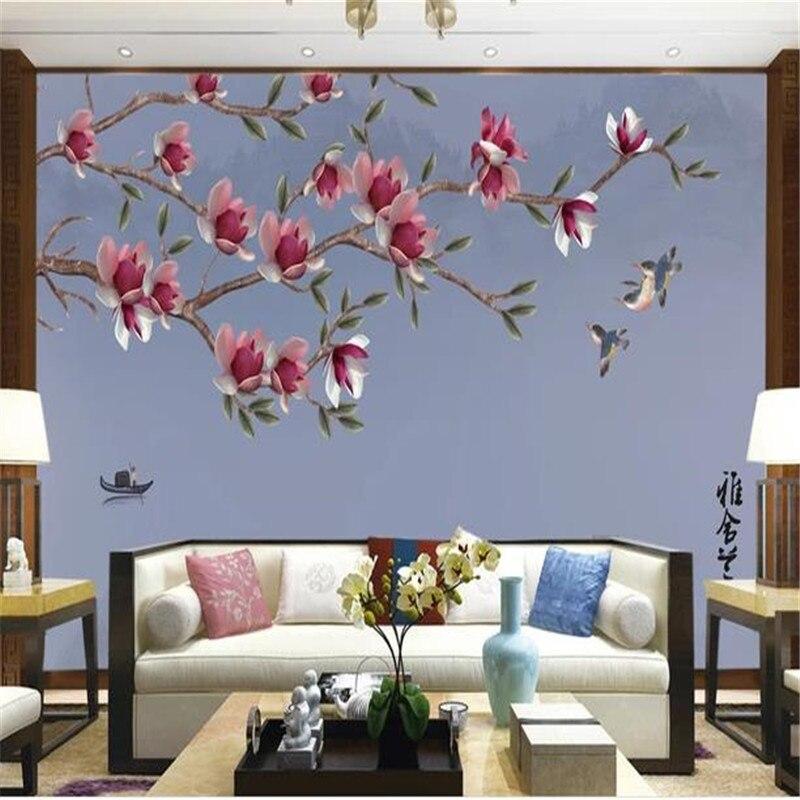 3D Sfondi Personalizzati Foto Da Parete in Stile Cinese Murales dipinti A mano Uccelli Fiori Sfondi per il Soggiorno Sfondo Dipinto3D Sfondi Personalizzati Foto Da Parete in Stile Cinese Murales dipinti A mano Uccelli Fiori Sfondi per il Soggiorno Sfondo Dipinto