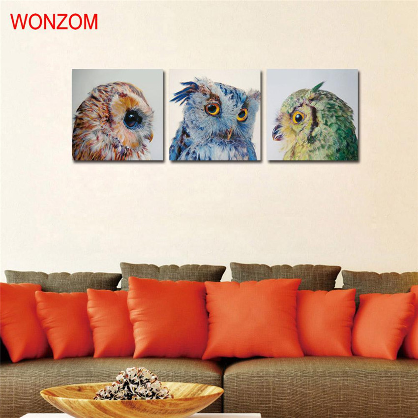 amazing Cute Christmas Canvas Paintings Part - 9: Framed Cute Owl Canvas Paintings Modern Bird Wall Christmas Canvas Pictures  For Home Decor Cuadros Decoracion Vintage Cool Gift-in Painting u0026  Calligraphy ...