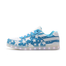 led Shoes Unisex male & Men USB Charging Low Top Luminous LED Light-Up Shoes Flashing Casual Light up Shoes for Adult