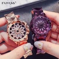 Qurple Woman Watch Ladies Quartz Watches Top Brand Luxury Girl WristWatches Lady Bracelet Watch Rotating Dial