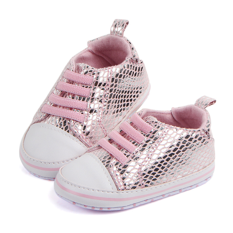 1 Pairs Lytwtws Kids Girls Boys Summer Kawaii Cute Glisten First Walkers Newborn PU Baby Toddlers Shoes Children