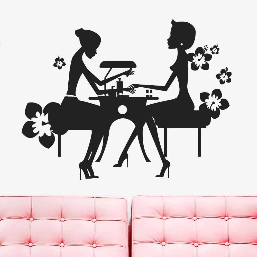 DCTAL Nail Bar Salon Sticker Girl Spa Decal Massage Beauty Posters ...