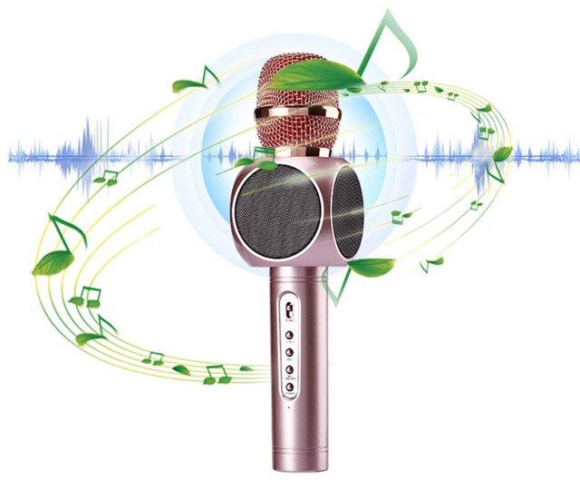 E103 Мульти Караоке плеер Портативный Беспроводной Bluetooth Микрофон Микрофон Динамик Конденсаторные Дома Моды