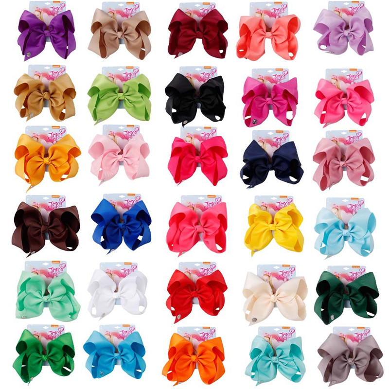 8 Large Party Bows Hair Clip For Girls Kids Handmade Sequin Collection Colorful Hairpin Accessories
