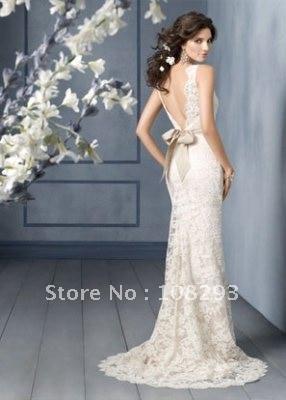 sheath lace wedding dresses