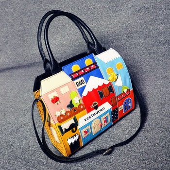 Japan and South Korea fashion bags of large capacity spot rare tall hand stitched sole decoration