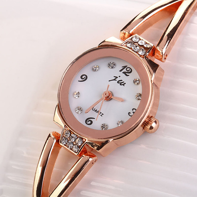 HF 2016  Fashion Women Girl Bracelet Watch Quartz OL Ladies Alloy Wrist Watch elogio masculino relogio feminino Box Z518 5Down