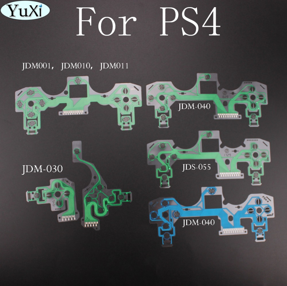 YuXi  For PlayStation 4 PS4 Pro Slim Controller Conductive Film Keypad Flex Cable For Dualshock 4 Ribbon Circuit Board JDS 055