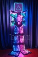Performance Clothing LED Light Stilted Robot Fluorescence Dance Rental Screen Lighting Machine Clothing Men