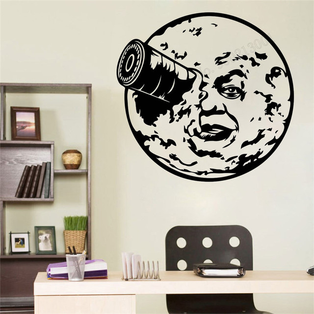 wall art sticker trip to the moon inspired room decoration vinyl