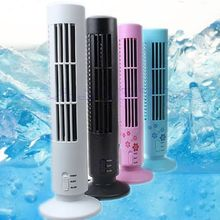 MEXI USB Portable Mini Cooling Cool Desk Tower Fan Bladeless Air Conditioner
