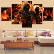 Modern Home Decorative HD Printing 5 Pieces Disturbed Heavy Metal Painting Type Poster Modular For Framework Living Room