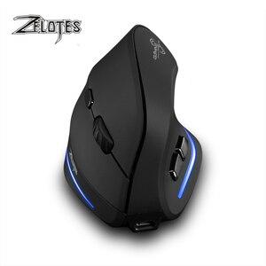 Image 3 - Fare Raton Zelotes F 35 2.4GHz dikey kablosuz şarj edilebilir usb 2400DPI 6 düğme oyun bilgisayarı fareler dizüstü PC için