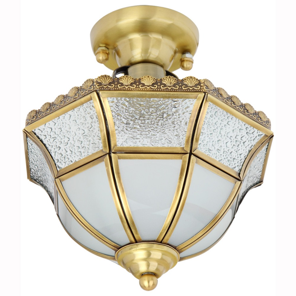 Classic Copper Ceiling Light for Bedroom Study Room Corridor 1 Single Head