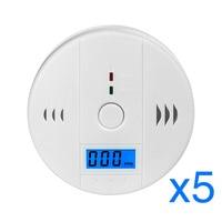 10pcs High Sensitive LCD Digital Backlight Carbon Monoxide Alarm Detector Tester CO Gas Sensor Alarm For