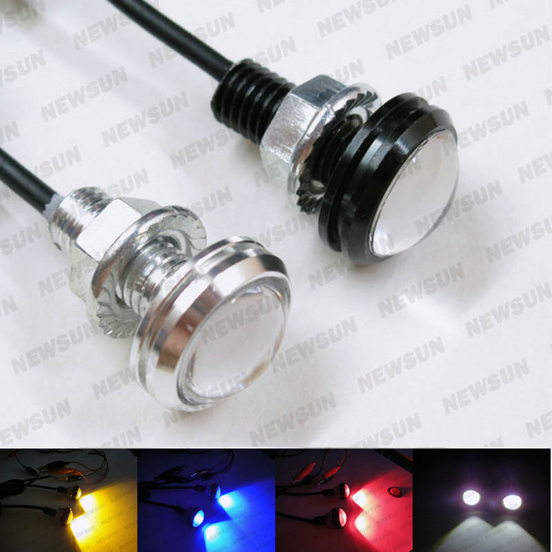 Car Motorcycle High Power 6W LED Eagle Eye Backup Light DRL daytime Running Lamp Black and silver free shipping high power daytime running driving light eagle eye drl car lamps condenser lens for auto car white drl eagle eye 10w led lens
