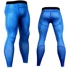 Pants Men Joggers Fitness Leggings Spliced Trousers Gear Tights Mesh Compression Plaid