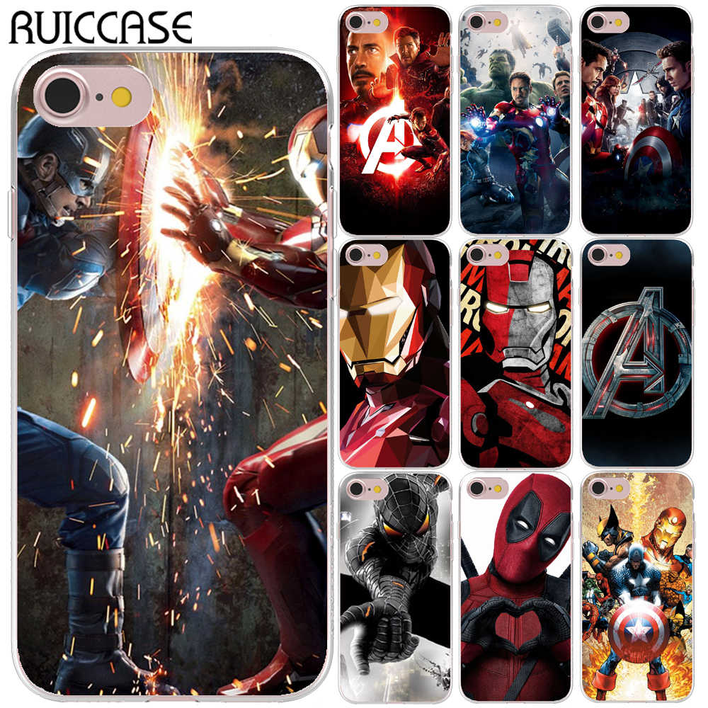Spider Iron Man Joker Deadpool Captain America Soft TPU Case For Coque iPhone X XS 11 q50