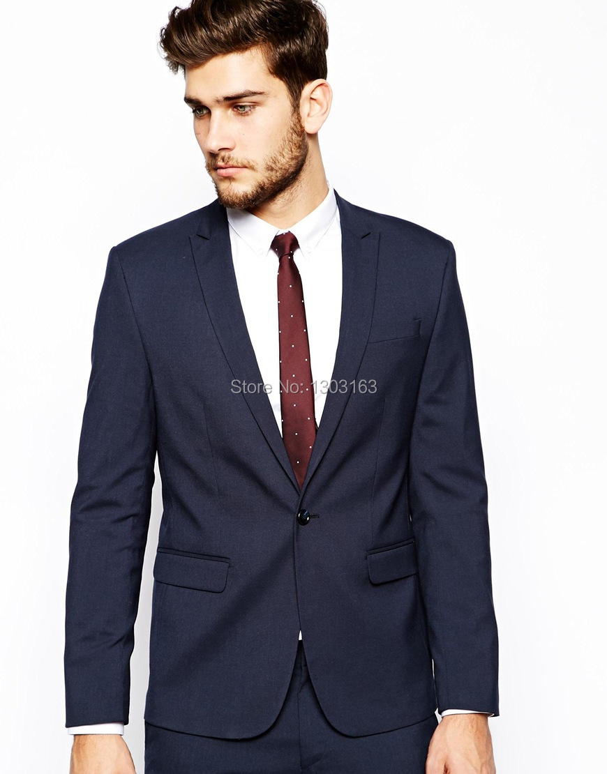 Aliexpress.com : Buy Custom Made Dark Blue Men Suit, Tailor Made