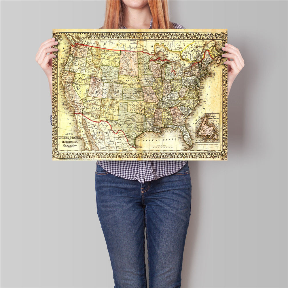 Online Get Cheap Usa Map Poster Aliexpresscom Alibaba Group - Us map poster 24x36