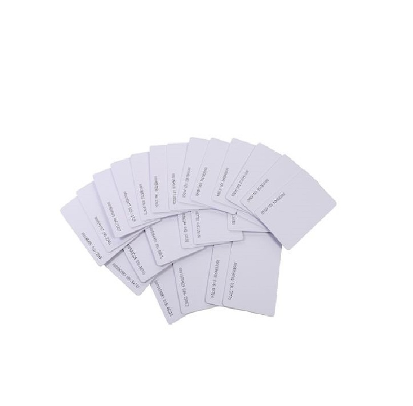 RFID white plastic pvc ID smart card 125khz with EM Chip for time attendance