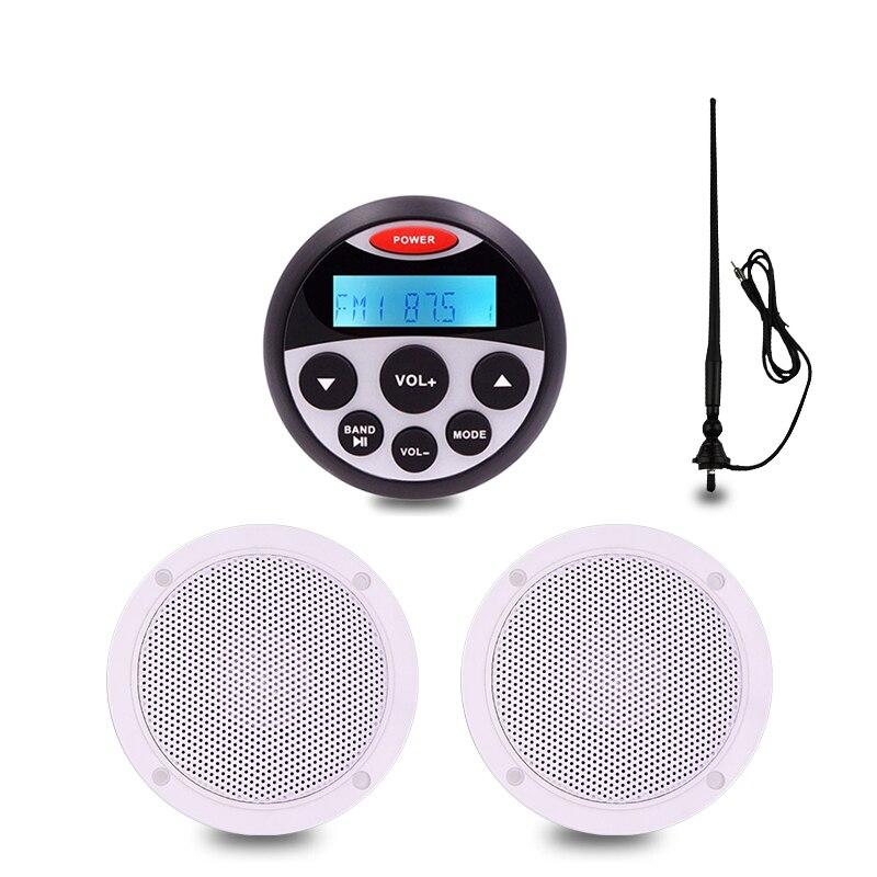 Marine Stereo Boat Audio Bluetooth Radio FM AM USB MP3 Player for Motorcycle Auto ATV UTV 4